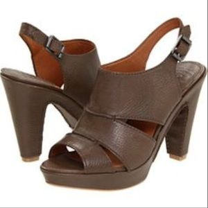 Lucky Brand Peggy Brown Leather Heels